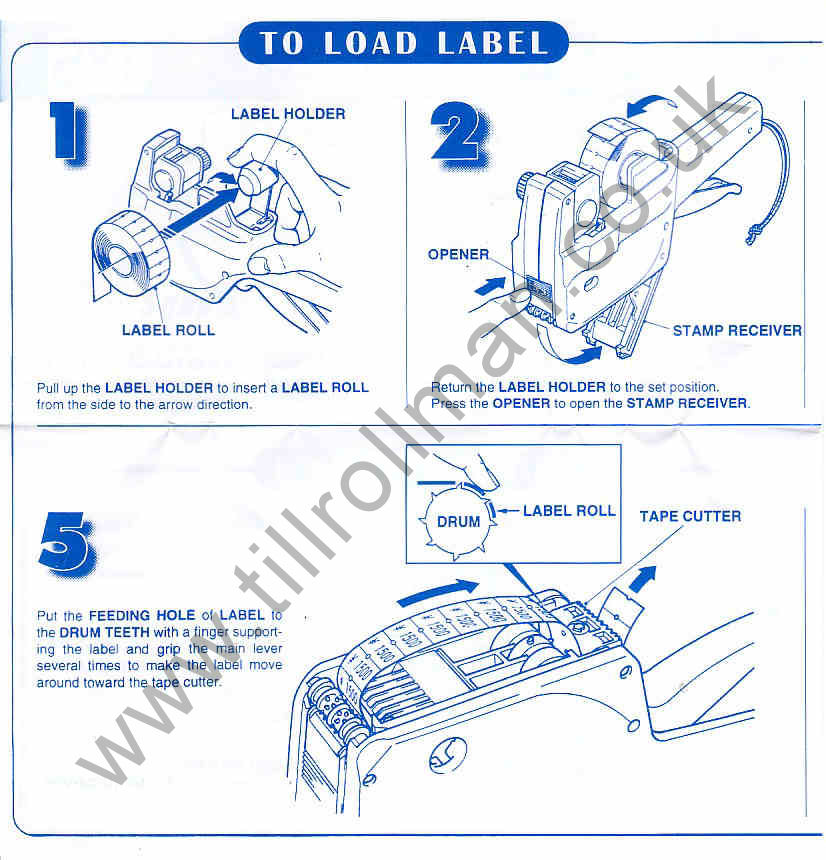 It is an image of Magic Label Gun How to Load