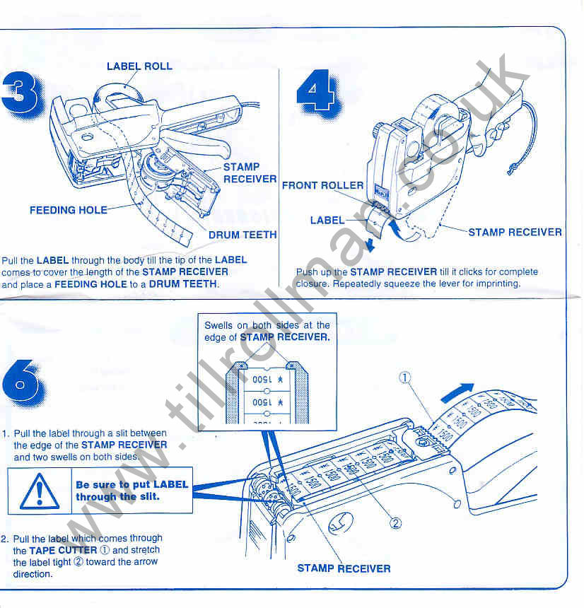 mx 5500 price gun instructions