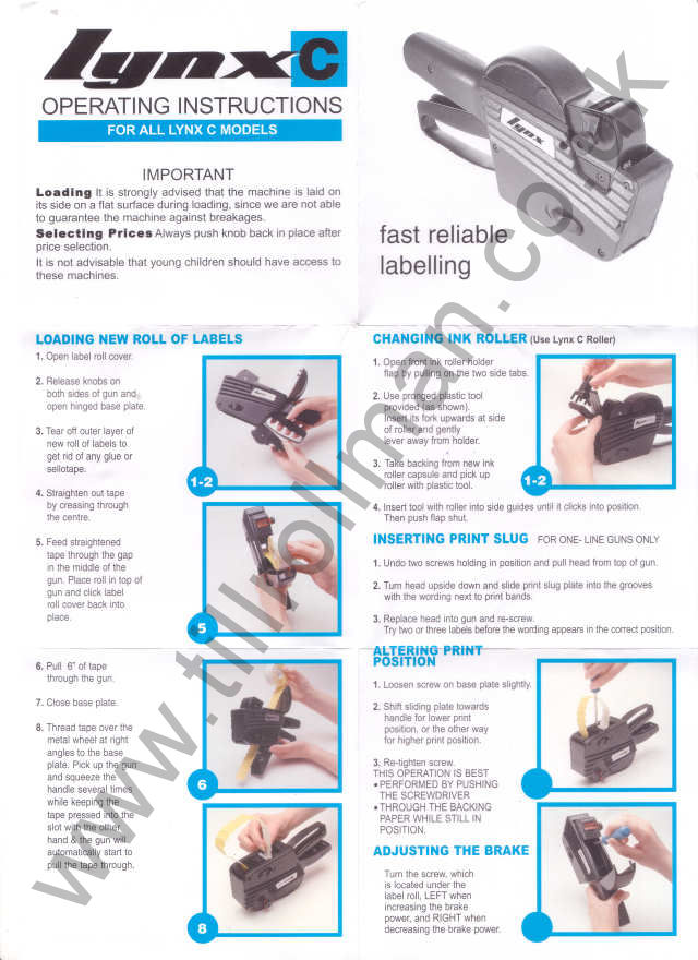 It's just an image of Versatile Label Gun How to Load